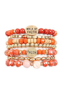 Walk by Faith bracelets/ Truly Blessed bracelets