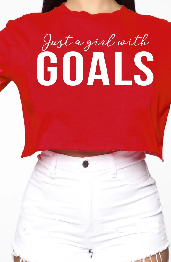 She Got goals crop top