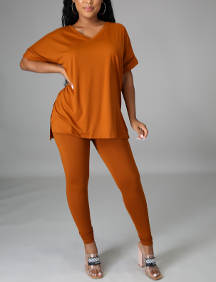 Deep Camel Love legging Set