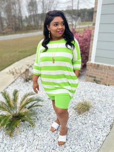 Lime Green short set