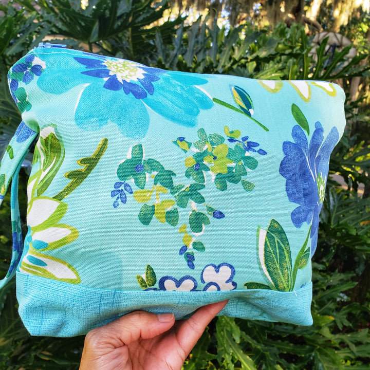 Shabby Chic Floral Clutch Bag, Great Unique Gift for special occasion - Domestic Free Shipping
