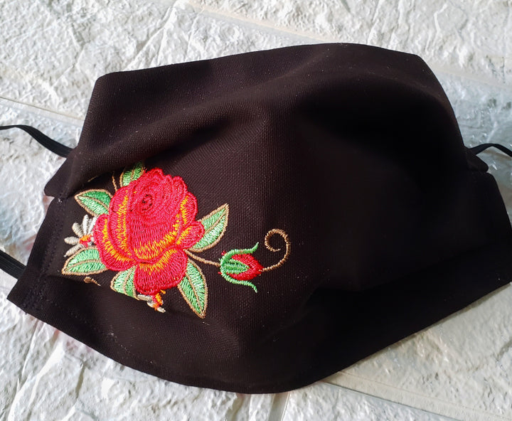 Embroidery Rose Face Cover  (Domestic Free Shipping)