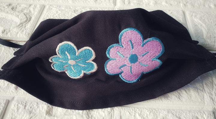 Delicate embroidered Black Face Cover, gorgeous Mask Gift (Domestic Free Shipping).