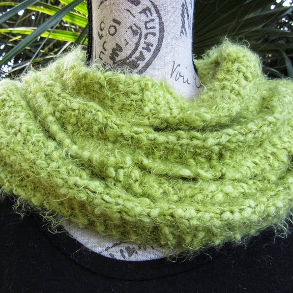 Knitted Apple Green Hufflepuff Scarf - Domestic Free Shipping