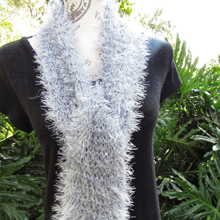 Knitted luxury scarf, crochet evening scarf, amazing knit shawl gift for Women. (Domestic Free Shipping)