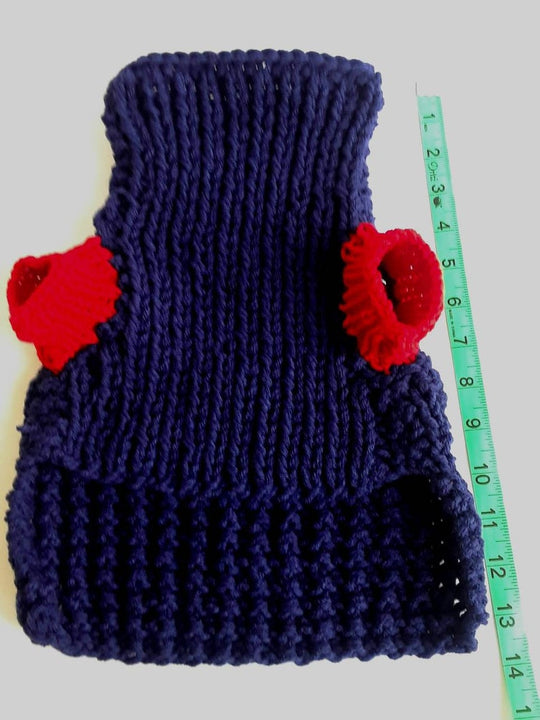 Navy Crochet Dog Sweater, Great Dog Gift (Domestic Free Shipping)