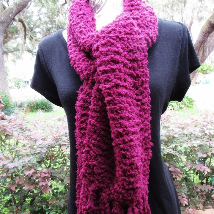 Hufflepuff purple knitted Scarf, Very Soft Shawl, Perfect and warm Crochet Scarf Gift for Winter -Domestic Free Shipping