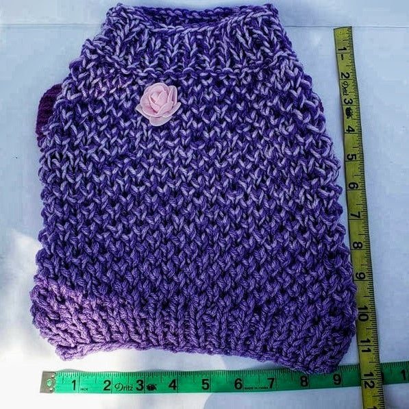 Crochet Nuanced Lilac Dog Sweater, original & unique gift for your puppy (Domestic Free Shipping)