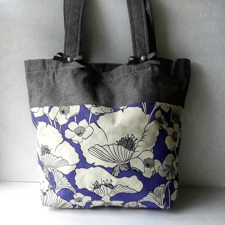 Letty Flowers Large Tote Bag, pretty Gift for ladies like wear unique Tote Bag, Domestic Free Shipping.