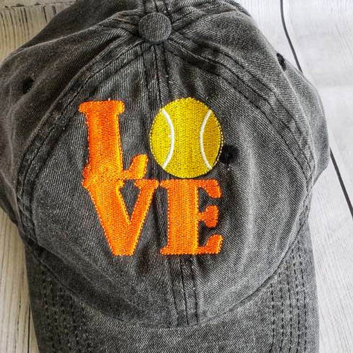Tennis Cap, Embroidery design Tennis Cap, wonderful tennis gift, ideal for players tennis - Domestic Free Shipping