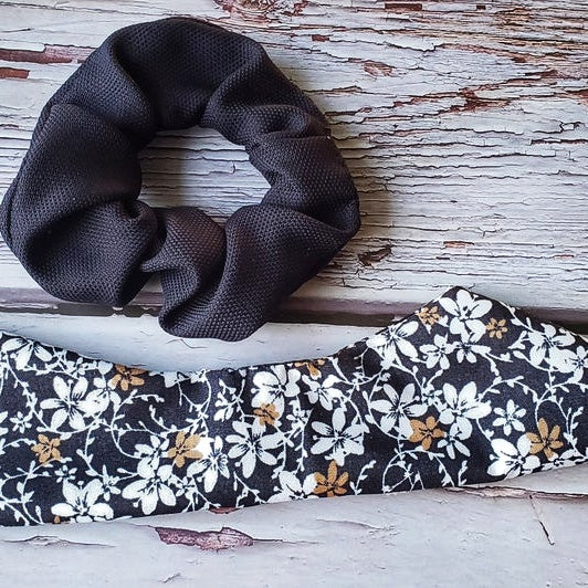 Floral Fabric Craft Scrunchie, Pony Tail, Pony Bow special Gift. (Domestic Free Shipping)