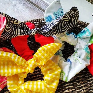 Hair Scrunchie, Pony Tail, Great Craftwoman Hair Gift- Domestic Free Shipping