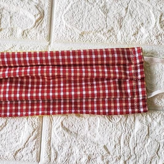 Plaid Breathable Face Mask, Vintage and Pretty Gift for these Holidays (Domedtic Free Shipping)