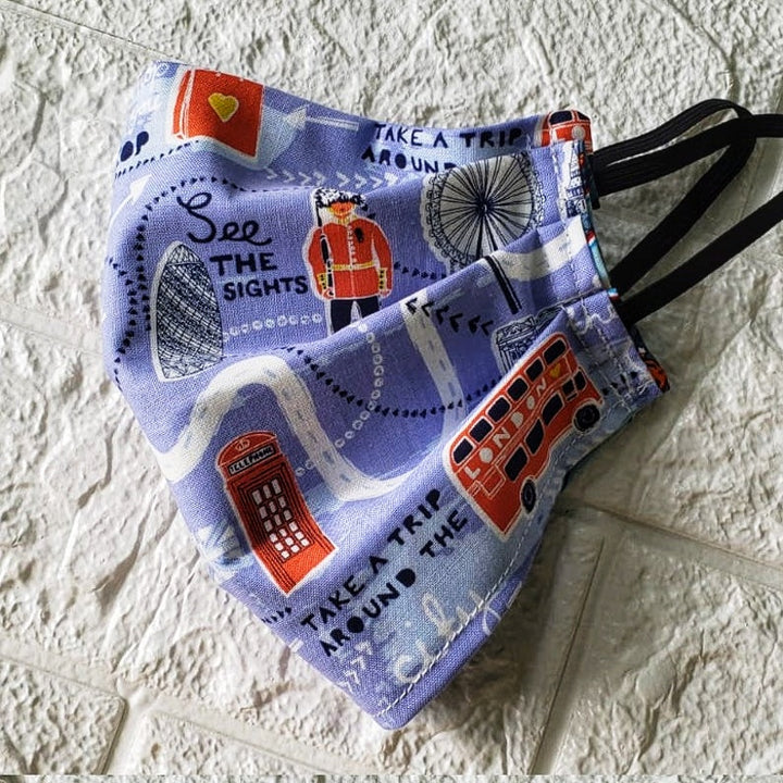 London Face Cover, Gift to take a Trip around London (Domestic Free Shipping).
