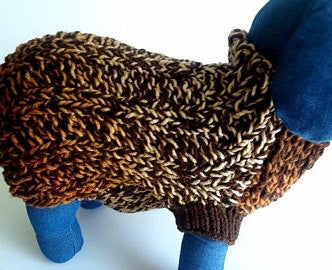 Nuanced Brown Crochet Dog Sweater, Warm and comfortable gift for your puppy(Domestic Free Shipping)