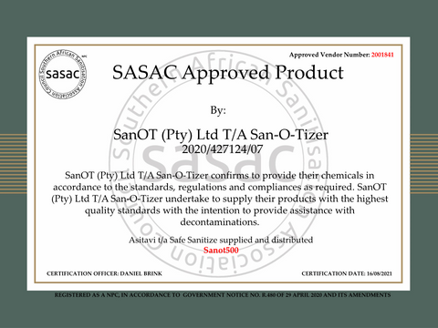 Approved Product Compliance Certificate