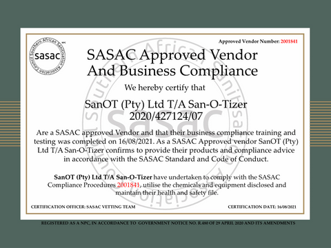 Approved Vendor Business Compliance Certificate