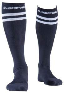Zeropoint Compression socks black 2 stripes long
