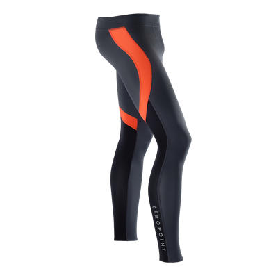 Zeropoint Compression tights black orange mens