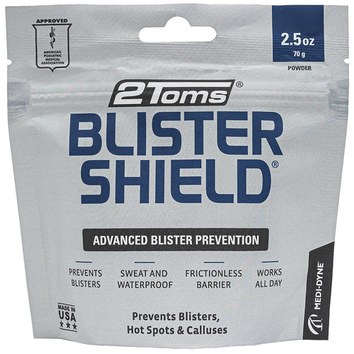 2Toms Blistershield foot powder prevents blisters