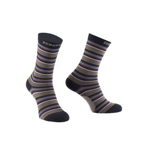 Zeropoint Compression crew socks multistripe