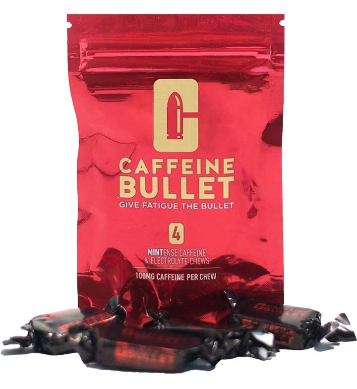 Caffeine Bullet Box of 20 Packs of 4 Chews Mint Flavour - SAVE 20%