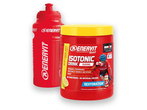 ENERVIT Isotonic Drink 420G Tubs Lemon with bottle