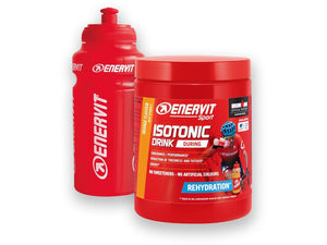 ENERVIT Isotonic Drink 420G Tubs Orange with bottle