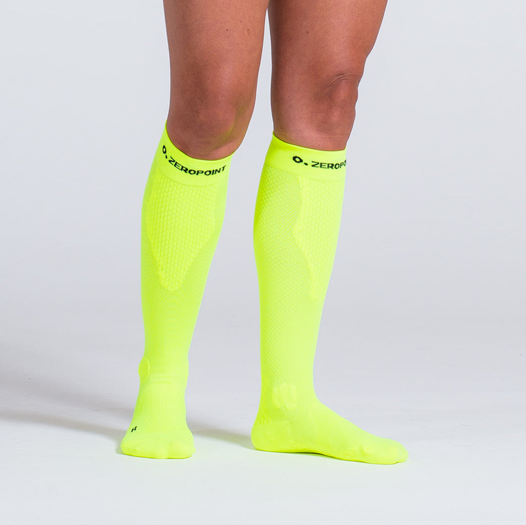 ZEROPOINT Compression Socks Neon Yellow Womens