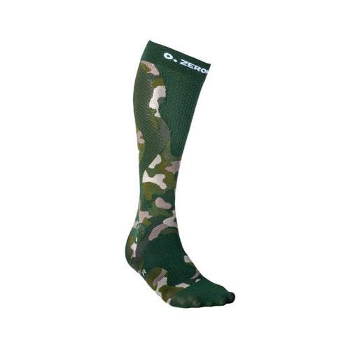 Zeropoint Compression socks green camo womens