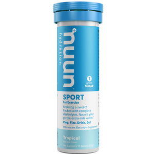Nuun Sport Hydration Tabs with Electrolytes and Vital Minerals Tropical