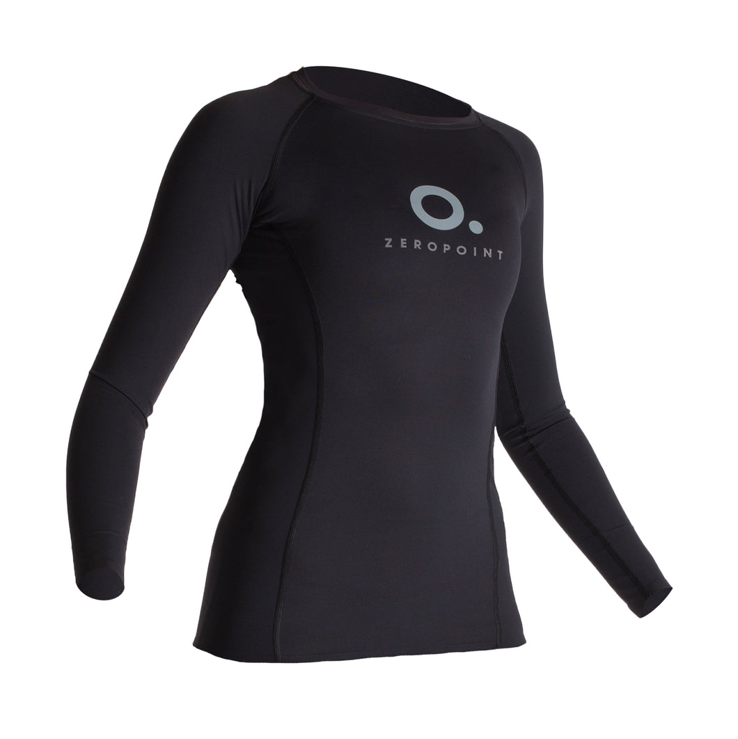 Zeropoint Performance Compression Long Sleeve Top Women, Black