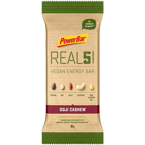 PowerBar Real5 Vegan Energy Bar Goji Cashew
