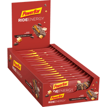 Load image into Gallery viewer, Powerbar Ride Energy Bar Chocolate Caramel box
