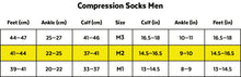 Load image into Gallery viewer, Zeropoint Compression socks size chart men