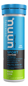 Nuun Sport + Caffeine Fresh Lime tube