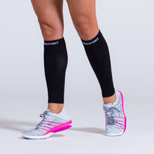 Load image into Gallery viewer, Zeropoint Compression calf sleeves black girl