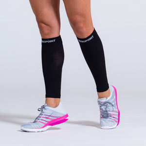 Zeropoint Compression calf sleeves black girl