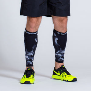 Zeropoint Compression calf sleeves black camo man front