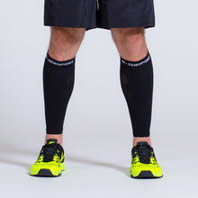 Load image into Gallery viewer, Zeropoint Compression calf sleeves black front