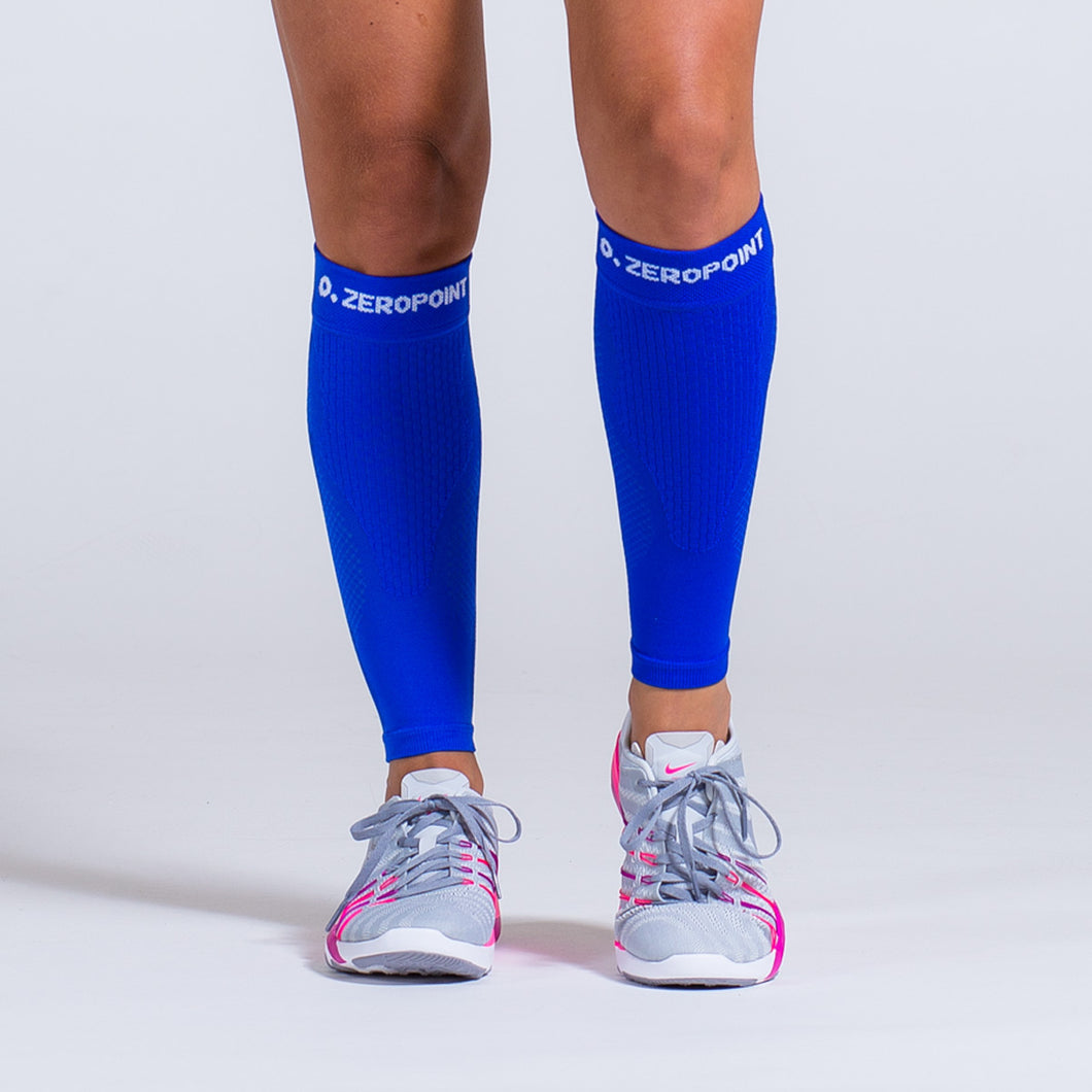 Zeropoint Compression calf sleeves blue