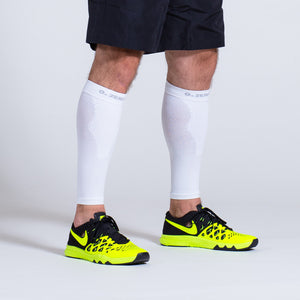 Zeropoint Compression calf sleeves white