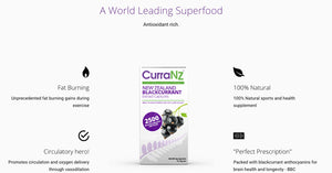 CurraNZ Capsules - Made From 100% Natural New Zealand Blackcurrants - 30 Capsules