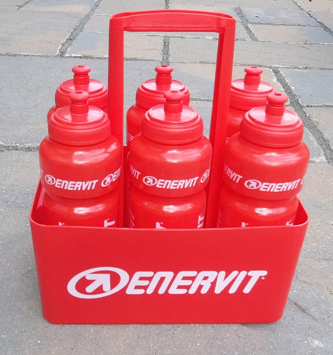 ENERVIT Team Bottle Holder with 6 x 750ml bottles