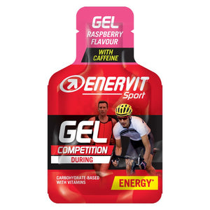ENERVIT Energy Gel Raspberry with caffeine