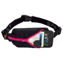 Load image into Gallery viewer, Spibelt Original running belt black with hot pink zip