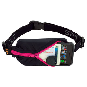 Spibelt Original running belt black with hot pink zip