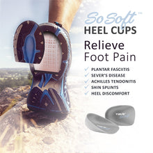 Load image into Gallery viewer, Tuli's So Soft Heel Cups plantar fasciitis shin splints