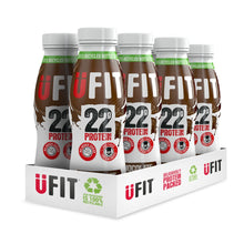 Load image into Gallery viewer, UFIT 22G HIGH PROTEIN SHAKE DRINK - 8 x 310ML BOTTLES - SAVE 33%