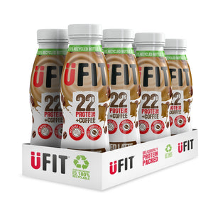 UFIT 22G HIGH PROTEIN SHAKE DRINK - 8 x 310ML BOTTLES - SAVE 33%